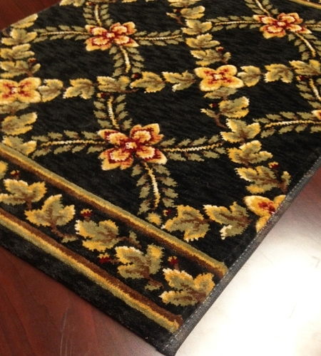 Royal Luxury Woodland Trellis 1325/0003a Ebony Carpet Stair Runner