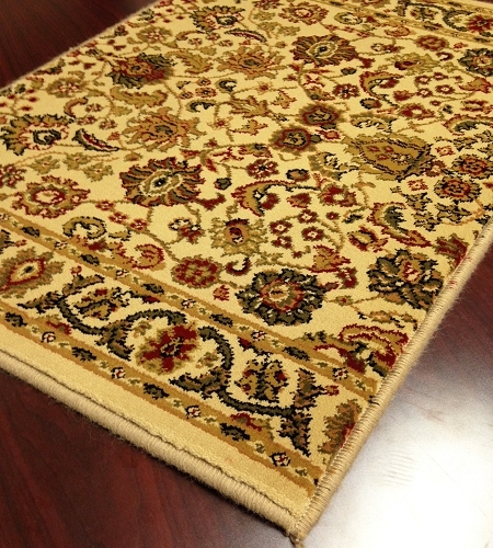 World WO02 Ivory Traditional Carpet Stair Runner