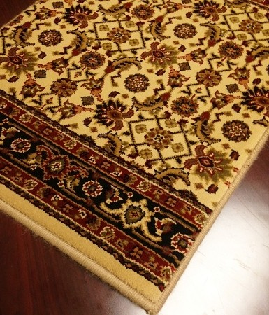 World WO07 Ivory Traditional Carpet Stair Runner