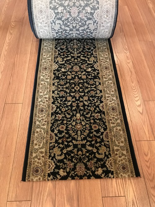 "Braavos Midnight 26"" Wide Finished Runner - Price is Per Foot"