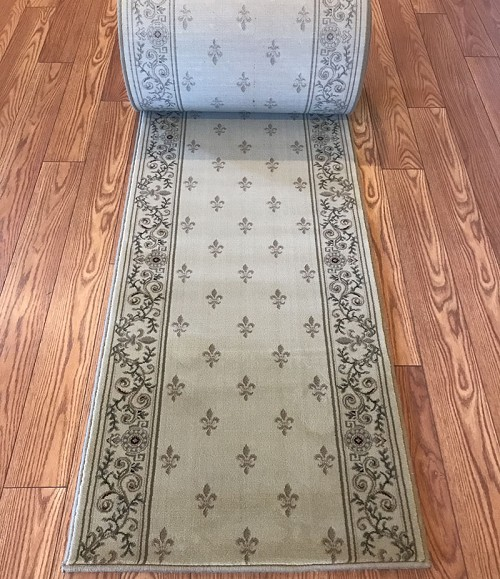 "Mardi Ivory 26"" Wide Finished Runner - Price is Per Foot"