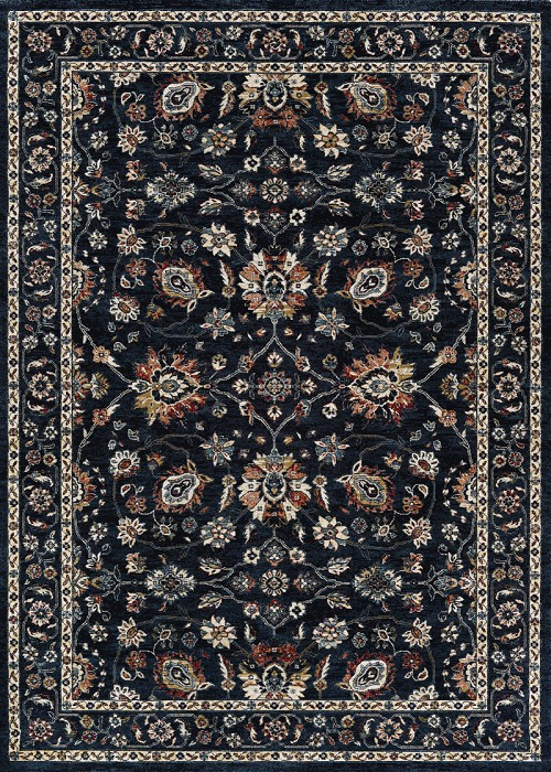 Couristan Monarch Kerman Vase JE45 3434 Navy Rug