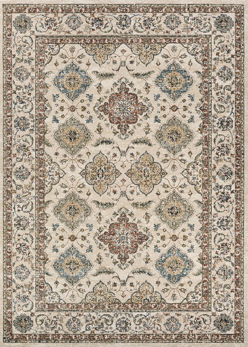 Couristan Monarch Yamut JE57 6464 Antique Cream Mocha Rug