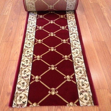 "Cero Ruby - 26"" Wide Finished Runner - Price is Per Foot - 19 ft LEFT"