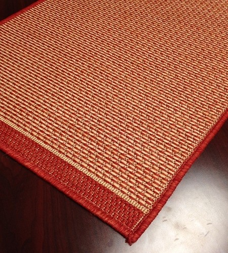 Indoor/Outdoor Carpet Stair Runner Brick Pattern Foris