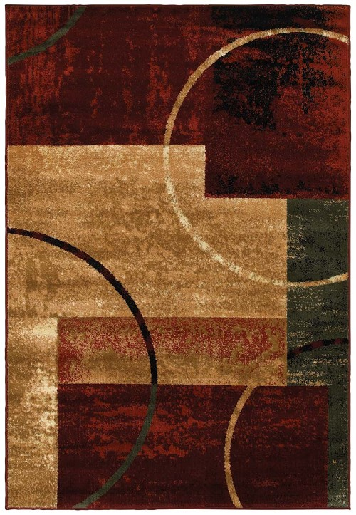 LR Resources Grace 81108 Red Rug
