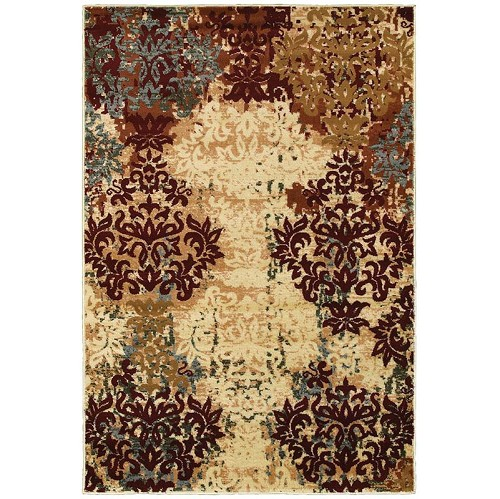 LR Resources Grace 81119 Red Rug