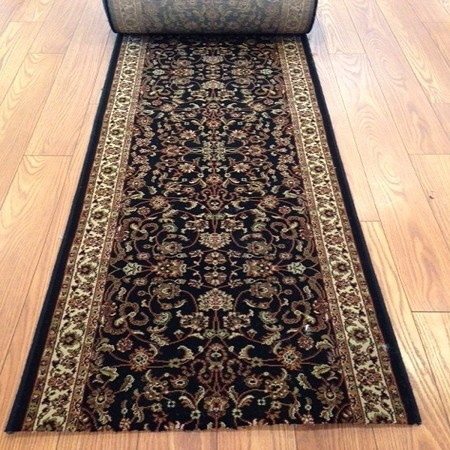 Moxy Black - 26 Inch Wide Finished Runner - Price is Per Foot - ONLY 14 feet Left!