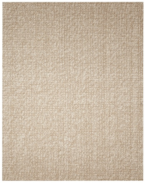 Wool Loop Rug: Zatar Ivory Ribbed Loop Rug 100% Jute/Wool Anji Mountain