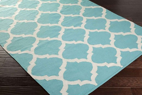 Artistic Weavers Vogue Everly AWLT3003 Teal/White Area Rug