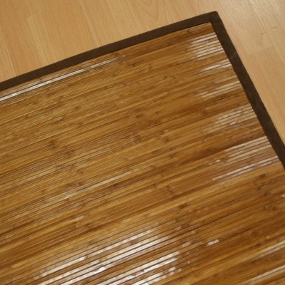 Bamboo Mat With Brown Border