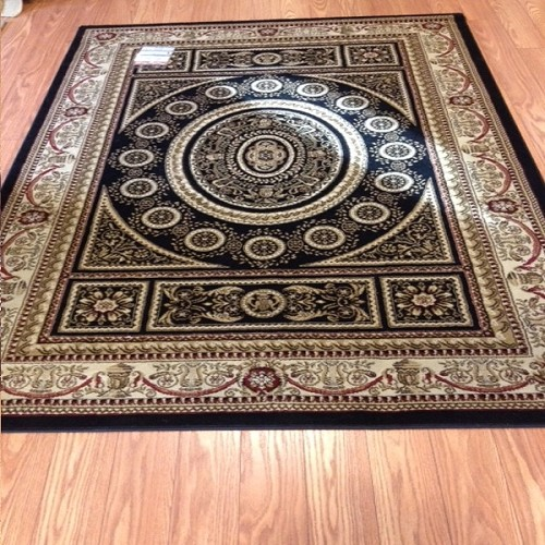 Payless Rugs Clearance Belvedere Black Royal 5 ft x 8 ft Area Rug
