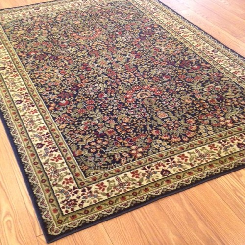 Payless Rugs Brilliance Navy Jewel Area Rug 5 ft 3 in x 7 ft 7 in