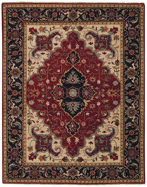 Capel Bellevelle Tabriz 1088 550 Dark Red Ink Rug