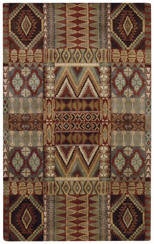 Brown Multi Big Horn Rug by Capel