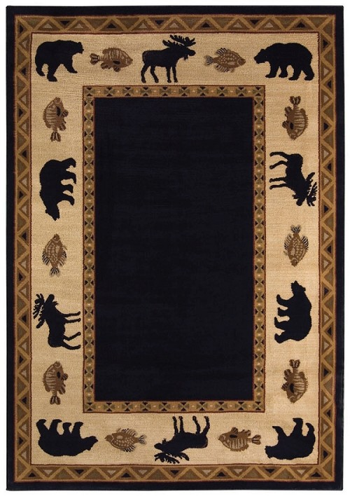 Cottage Grove Ebony Machine Made 100% Olefin Capel Rugs