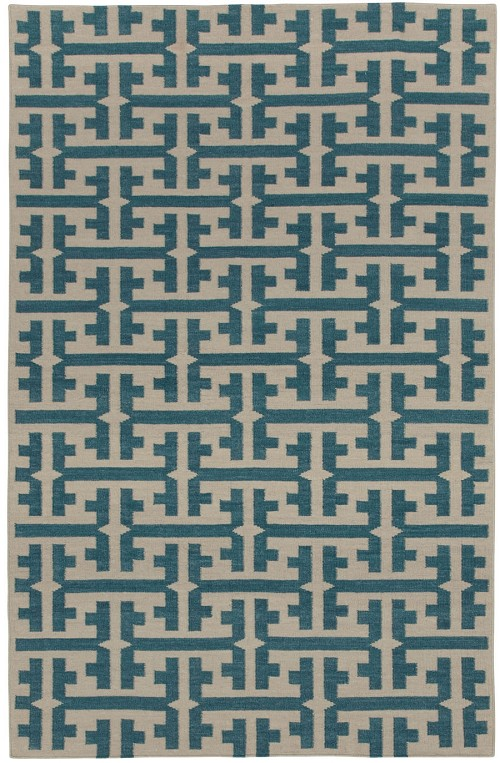 Capel Grecian 3632 420 Blue Green Rug
