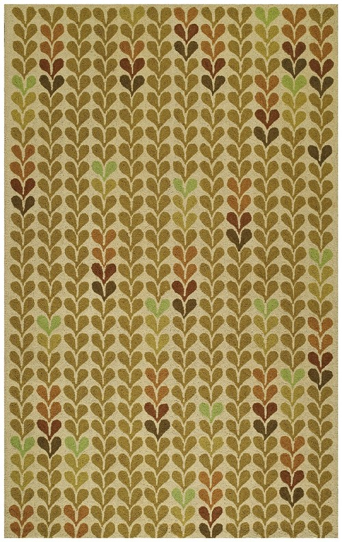 Capel Hearts 6024 225 Green Rug