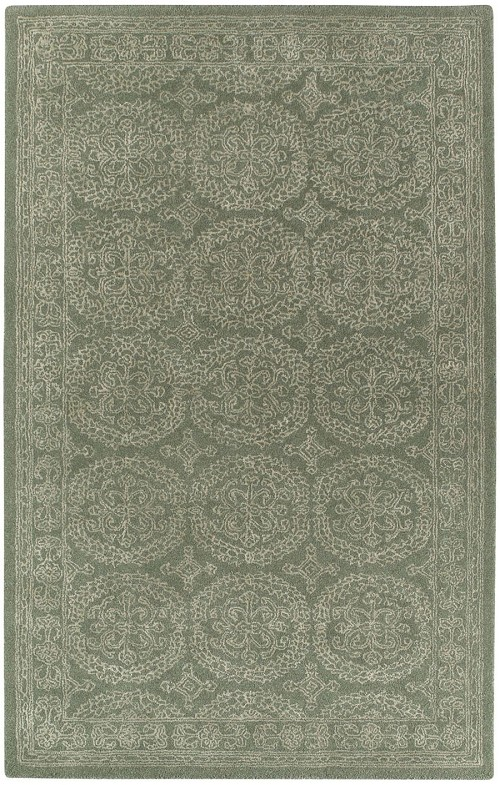 Capel Interlace 9243 225 Green Rug