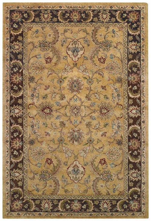 Amber Brown Monticello Rug by Capel