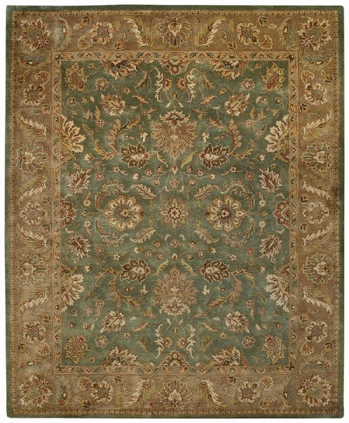 Palmette Blue Orinda Rug by Capel
