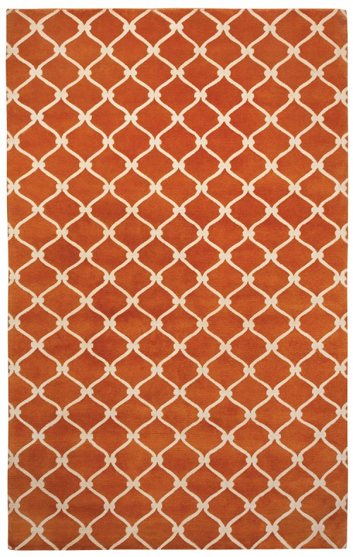 Capel Picket 1928 850 Tangerine Cream Rug