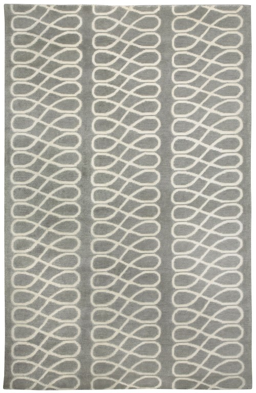Capel Twirl 1929 360 Light Charcoal Cream Rug