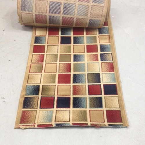 Color-Blox Modern - 26 Inch Wide Finished Runner - Price is Per Foot