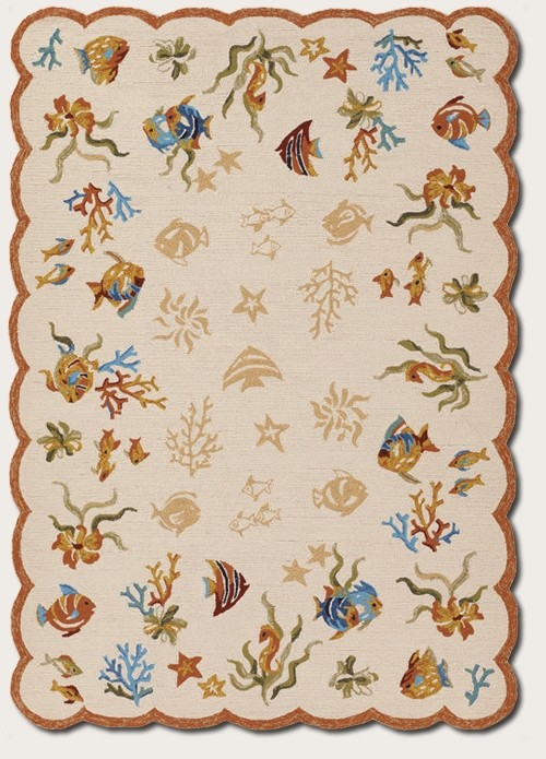 Coral Dive Sand 2133/1015 Outdoor Escape Outdoor Rug by Couristan