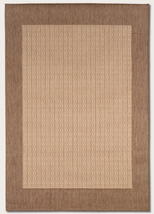 Recife Collection by Couristan: Checkered Field Natural Cocoa 1005/3000 Recife Outdoor Rug by Couristan
