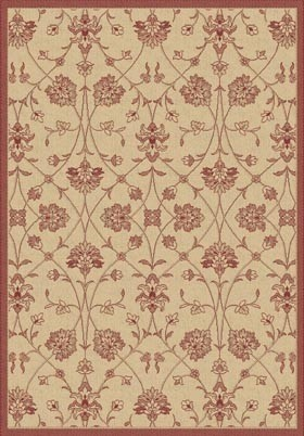 Natural Red 2744 3701 Piazza Outdoor Rug By Dynamic