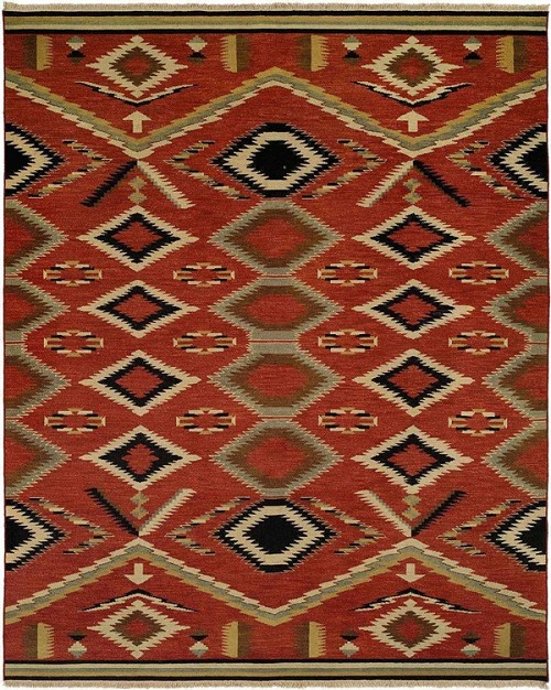 Hacienda Hac 76 Multi Flat Weave Hand Knotted 100 Wool Rugs