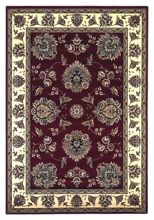 Cambridge 7340 Red/Ivory Floral Mahal Rug by Kas