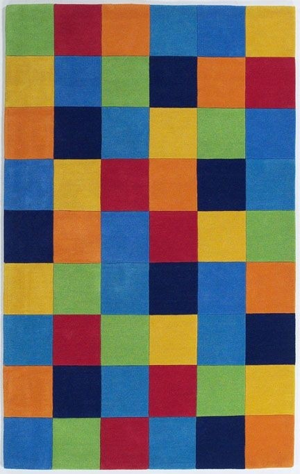 Kidding Around 416 Boys' Color Blocks Rug by Kas