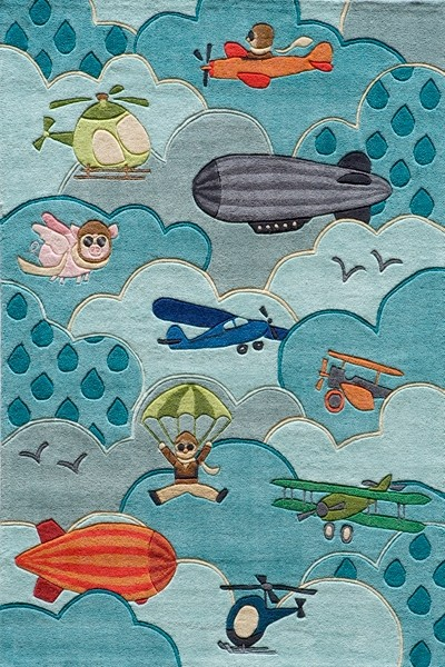 Lil Mo Whimsy LMJ-10 Sky Rug by Momeni