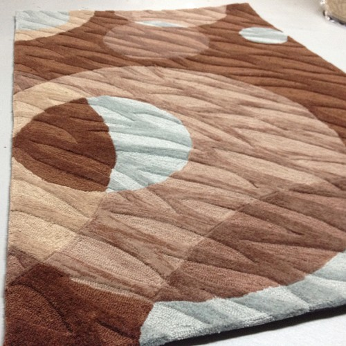 Payless Rugs Clearance Brown Multi Rug - 3 ft 6 in x 5 ft 6 in