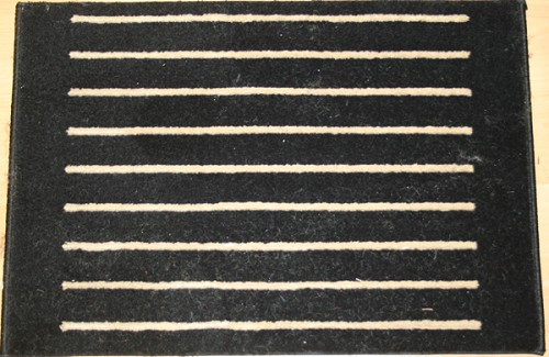 Corduroy 078 Black Carpet Stair Runner