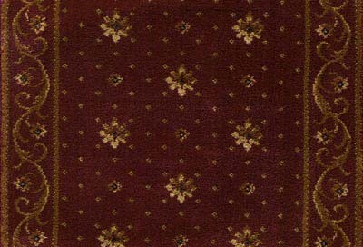 Earnest Ramona 681 Crimson Carpet Stair Runner