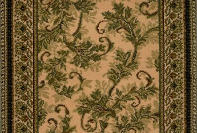 "Earnest Scroll 203 Latte Carpet Hallway and Stair Runner - 31"" x 34 ft"