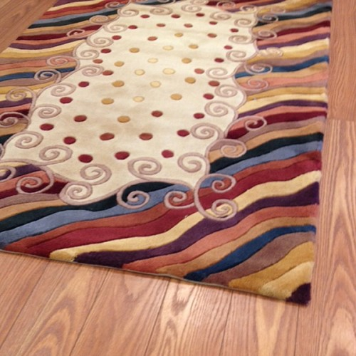 Payless Rugs Modern Swirls Area Rug - 3 ft x 5 ft