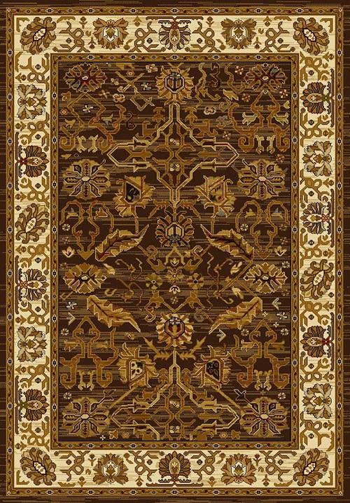 U W Affinity 750 01150 Persian Canvas Brown Rug