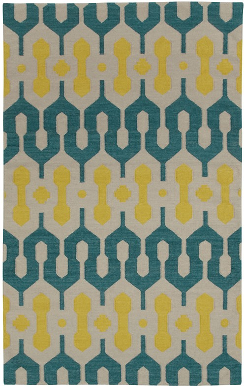 Capel Spain 3633 210 Blue Green Yellow Rug