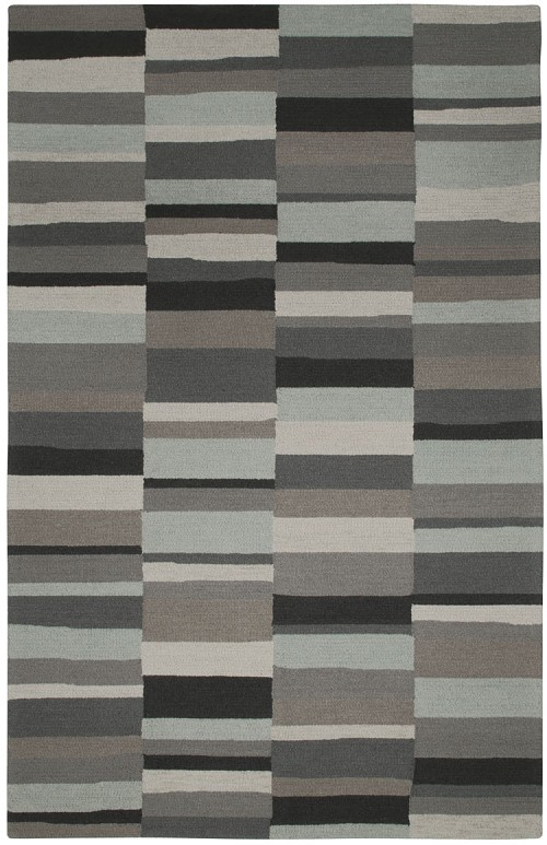 Capel Charcoal Stripe 6059 230 Green Rug