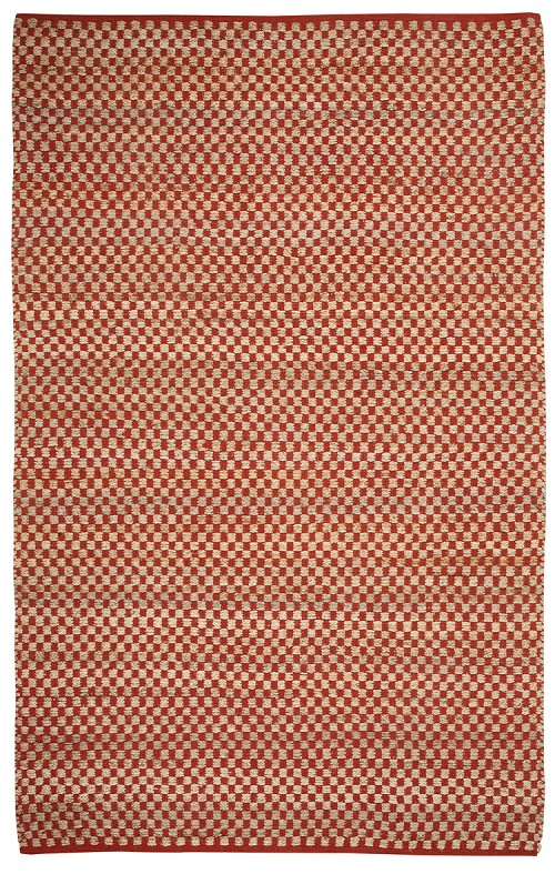 Capel Checkered 6507 850 Clay Rug