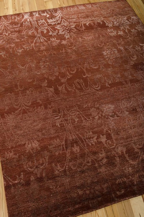 Nourison Silk Shadows SHA03 Rust Rug