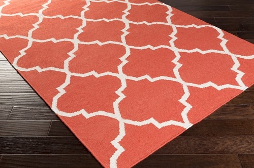 Artistic Weavers York Mallory AWHD1015 Coral/White Area Rug