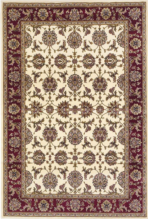 Cambridge 7312 Plum/Ivory Rug by Kas