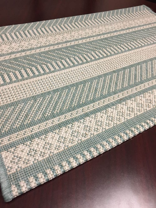 Foris FS04 Blue Indoor/Outdoor Carpet Stair Runner