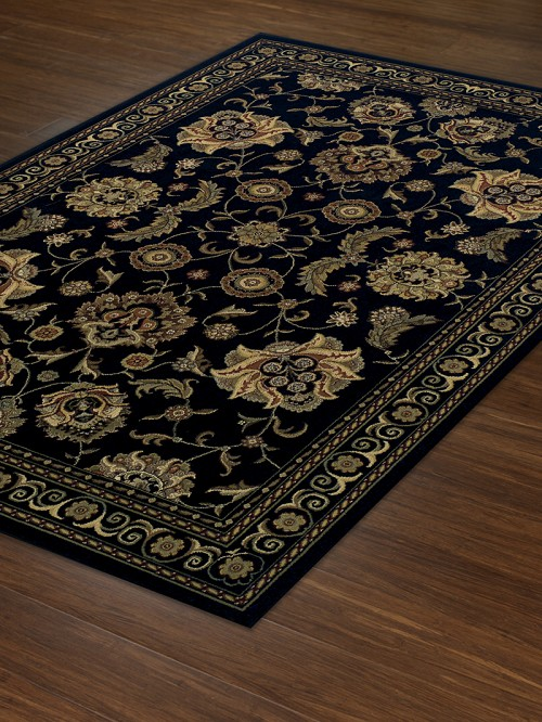 Black WB787 Wembley Rug by Dalyn