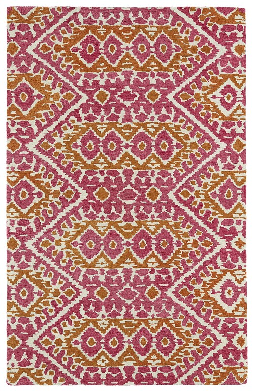 Kaleen Global Inspirations GLB01 92 Pink Area Rug